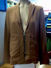 Vero Moda Blazer Jacket Jacke Gr 34 Braun mit Reißverschluss Top Zustand