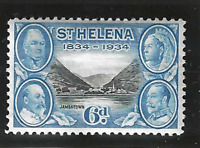 St. Helena Stamp Scott #106, Used Hinged