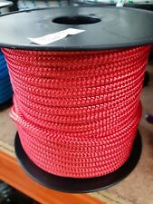 8MM Double Braided Rope Polyester Yacht Rope 40MTS Red