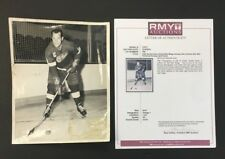 1960 Gordie Howe In His 1961 Parkhurst Hockey Card Photo Detroit Red Wings COA