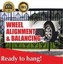 Wheel Alignment Balancing Banner Vinyl Mesh Banner Sign Auto Workshop Tire