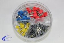 100 Aderendhülsen in Streudose isoliert 4 - 16 mm² + Spender - bunt - Set