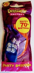 """Pack Of Latex Balloons Printed """"Happy 70th Birthday"""" - 7 Balloons Mixed Colours"""