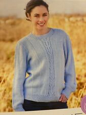 Cable Sweater Jumper Knitting Pattern