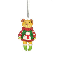 Dog in Ugly Sweater Ornament