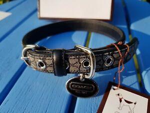 COACH Designer Leather DOG / PET COLLAR Boxed New FS4003 XL Minsig