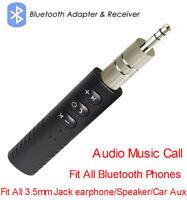 Mini 3.5mm Jack AUX Audio Receiver Adapter Wireless Bluetooth Car Kit Handsfree