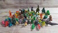 Vintage Dinosaur Toy Figure Lot of 48 Jarv Jasman Pretend Play