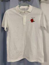 RARE LACOSTE PEANUTS white Snoopy Crocodile Polo Shirt Sz 14