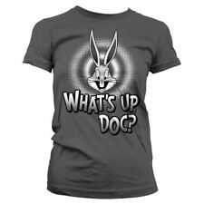 Official Women's Looney Tunes Bugs Bunny Whats Up, Doc Fitted T-Shirt
