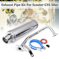 Performance Exhaust Muffler Pipe System Stainless Steel For GY6 50CC Scooter