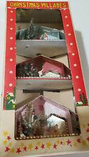 Box of 3 Japan Antique Vintage Christmas Villages Houses Iob #47544