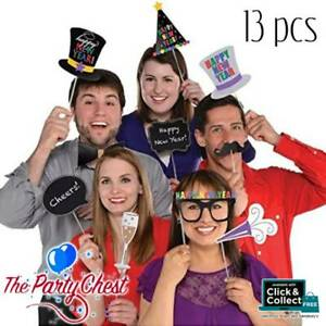 HAPPY NEW YEAR PHOTO PARTY PROPS 13 Selfie Signs Decorations Photo Prop 396550