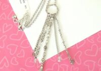 Brighton Joliet Dangling Chain Crystal Necklace New tags retired rare