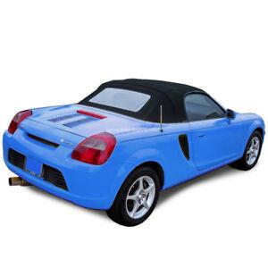 Toyota MR2 Spyder 2000-2007 Convertible Top - Blue Twill Vinyl - Glass Window