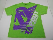 Tapout Simply Believe Mens Short Sleeve Shirt XL Light Green Purple