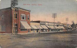 H83/ Hailey Idaho Postcard c1910 Main Street Stores Buildings  62