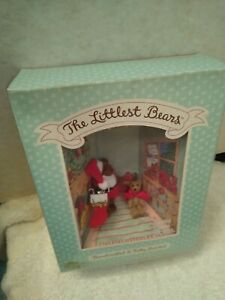 VINTAGE 1994 GUND The Littlest Bears #7010 SANTA CLAUS & ELF Christmas