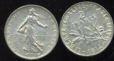 2 FRANCS  semeuse 1914    argent