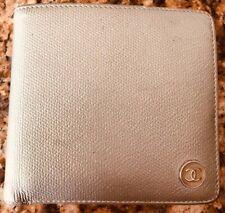 Chanel Caviar Metallic Leather BiFold Wallet - Silver
