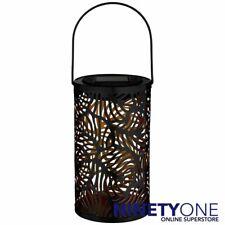 Tropical Cut Out Metal Lantern LED Solar Black Light Garden Decoration Lighting