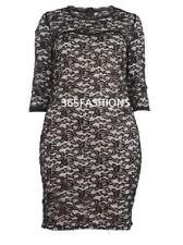 SAMYA PLUS SIZE 3/4 SLEEVE LACE  BODYCON DRESS RRP £35 FREE UK DELIVERY