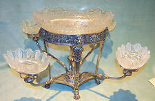 IMPORTANT MATHEW BOULTON 1811STERLING  GEORGIAN EPERGNE 5 CRYSTAL 2888G -93TOZ