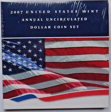 2007 US MINT ANNUALUNC  DOLLAR SET STILL WRAP IN PLASTIC INCLUDING SILVER EAGLE