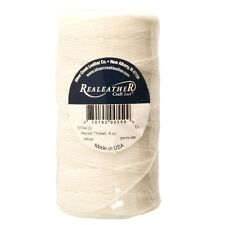Waxed Thread White Polyester Realeather BTH4 03 270 Yards 4 ounce