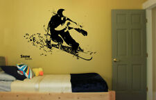 Wall Vinyl Sticker Bedroom snowboarding sport snow mountain risk activity bo2640