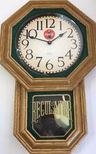 "Coca-Cola Quartz Wall Clock With Moving Pendulum 21""H X 14""W X 2""D-VINTAGE RARE"