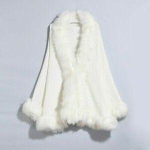 Winter Women Fur Coat Cape Autumn Winter Faux Fur Cape Coat Warm Outwear