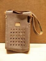 ORIGINAL LEATHER CASE ONLY ~ for vintage CONTINENTAL Six (6) Transistor AM Radio