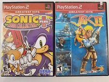PS2 PlayStation Lot of 2 Sonic Heroes Mega Collection Plus Jak II Free Shipping