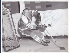 Cal Stearns signed vintage Cleveland Barons hockey photo