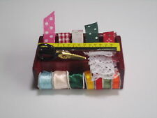 Vintage Sewing Needlework Needle kit box 1:12 Dollhouse Miniature height 2.2CM