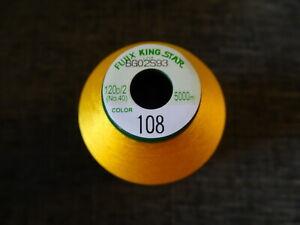 Fujix King Star best quality Embroidery thread 1x 5000m spools ( Manila ) 108