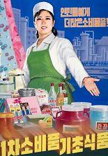 North KOREA Anti-American Propaganda Poster Print PLENTY OF GOODS A3 + #D149