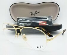 NEW RayBan RX Aviator Frame RX6589 2500 59mm Gold Semi Rimless AUTHENTIC 6589