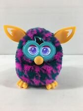 2012 Hasbro Interactive Furby Boom Pink & Blue w/ Yellow Ears TESTED Working
