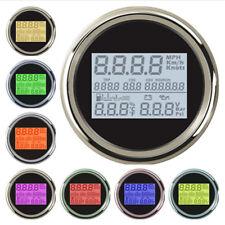 Digital Car GPS Speedometer Gauge Odo Trip Hour Volt Fuel Water Temp Oil Meter