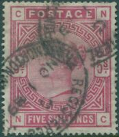 Great Britain 1883 SG181 5/- crimson QV CNNC FU