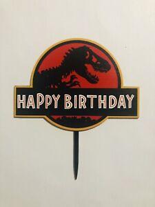Jurassic Park Cake Topper Dinosaur Cake Topper FREE SHIPPING!