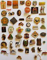 Large Lot Of 50 Collectible Miscellaneous Enamel Hat Lapel Pins -  Lot #3