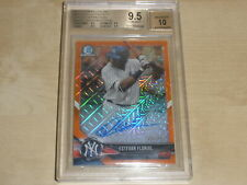 2018 Bowman Chrome Mega Box Orange Refractor Auto Estevan Florial /25 BGS 9.5 10