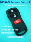 3 Button NISSAN Remote Remote Control xtrail pathfinder murano Tiida Remote