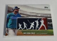 NELSON CRUZ - 2018 TOPPS - PLAYERS WEEKEND LOGO PATCH - MARINERS -