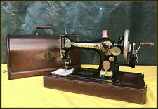 ANTIQUE SINGER MODEL 128 -VICTORIAN- HAND CRANK SEWING MACHINE ~99 YEARS OLD!!!