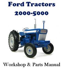 FORD TRACTOR 2000 3000 4000 5000 WORKSHOP & PARTS MANUAL  DIGITAL DOWNLOAD