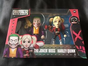 Metals Die Cast Twin Pack Suicide Squad - The Joker Boss and Harley Quinn Xmas